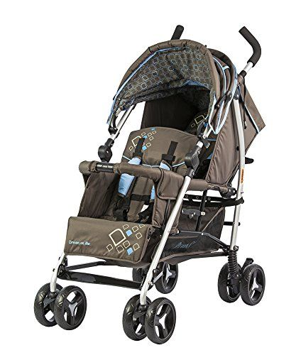 Dream On Me Freedom Tandem Stroller Brown Blue Small Light