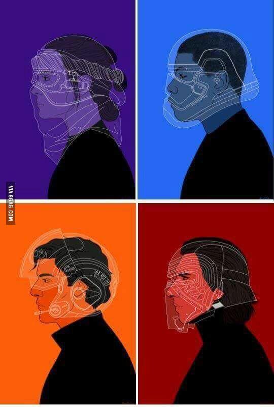 Star Wars characters helmets