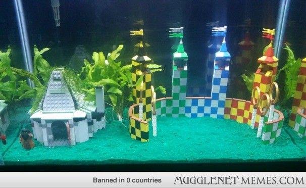 Harry Potter Themed Fish Tank