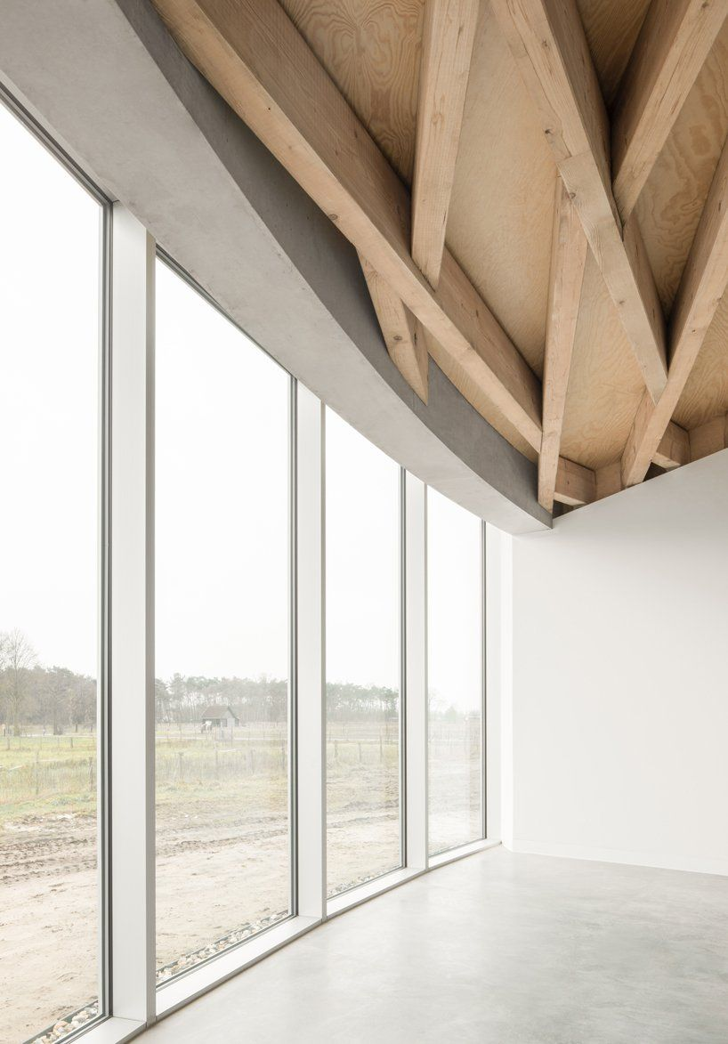 A Conic Roof Of Complex Timber Tops Frans Masereel Centrum In Belgium In 2020 Timber Roof Timber Beams Timber Structure