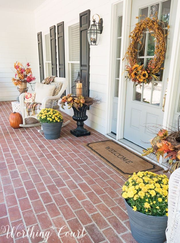 Welcome Fall On My Front Porch | Worthing Court