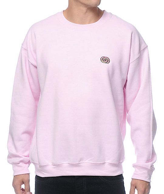 Odd Future Eternity Rings Embroidered Pink Crew Neck Sweatshirt ...