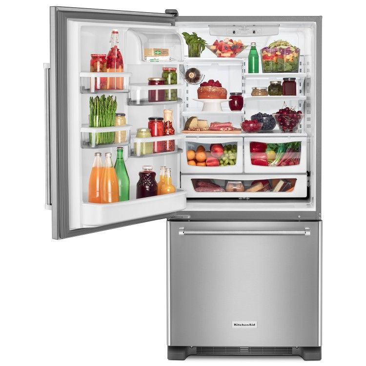 images?q=tbn:ANd9GcQh_l3eQ5xwiPy07kGEXjmjgmBKBRB7H2mRxCGhv1tFWg5c_mWT Kitchenaid 22.1 Cubic Ft White Bottom Freezer French Door Refrigerator