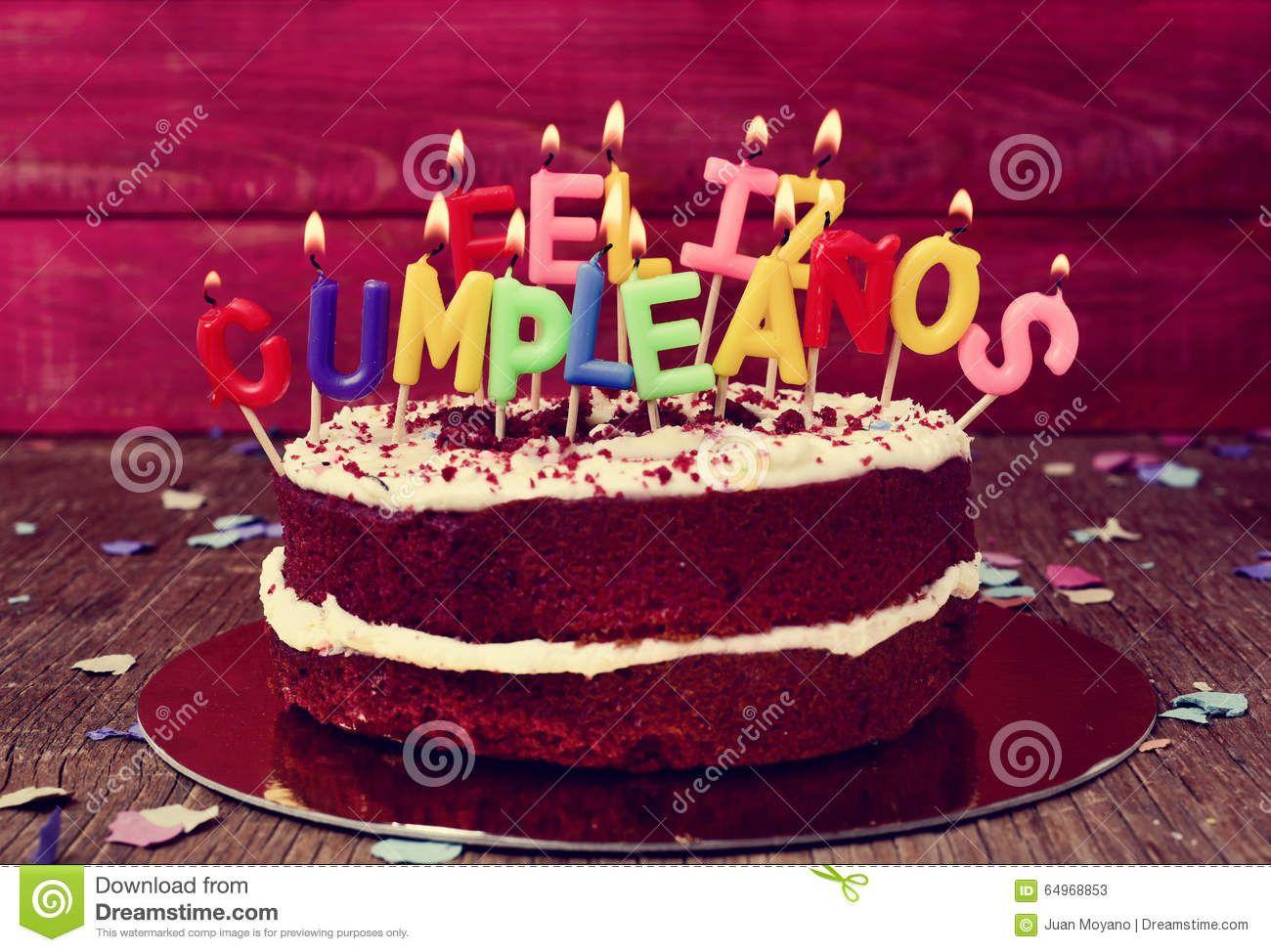 Cumpleanos De Feliz, Feliz Aniversario No Espanhol Foto De