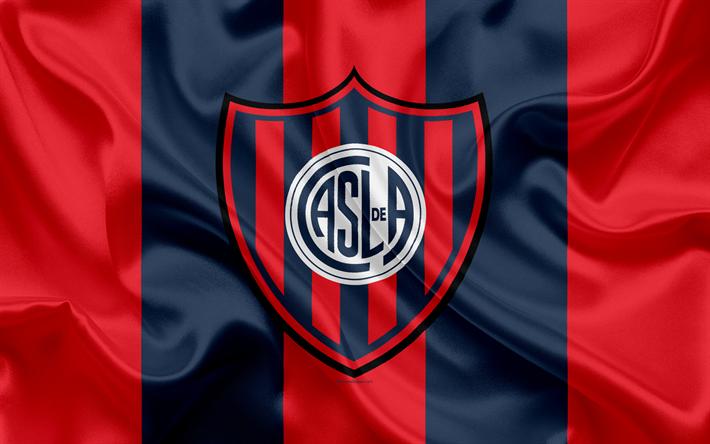 Download Wallpapers San Lorenzo De Almagro K Argentine Football Club Emblem Logo
