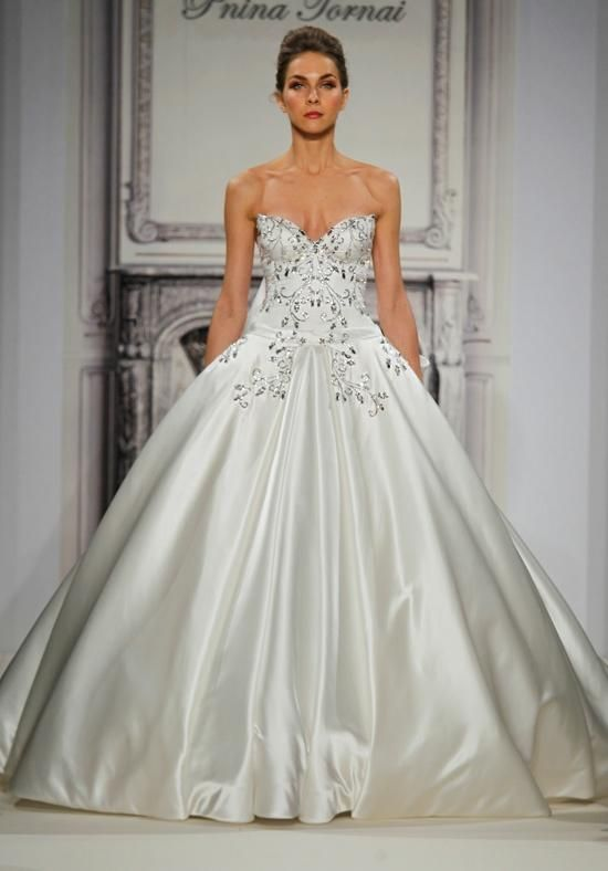 Pnina Tornai for Kleinfeld ball gown with sweetheart neckline and ...