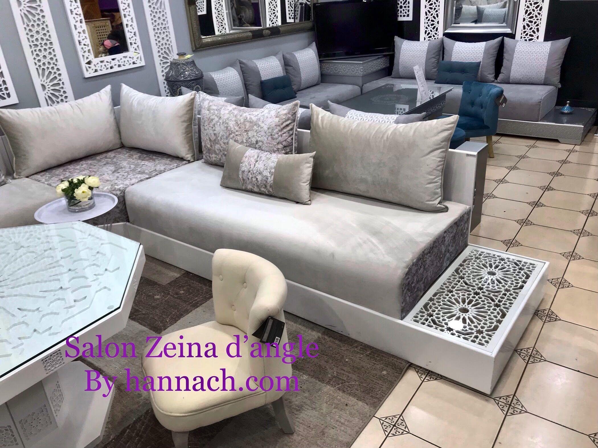 Salon Zeina D Angle Salon Salam Hannach Salon Marocain Design Decoration Salon Marocain Moderne Salon Marocain