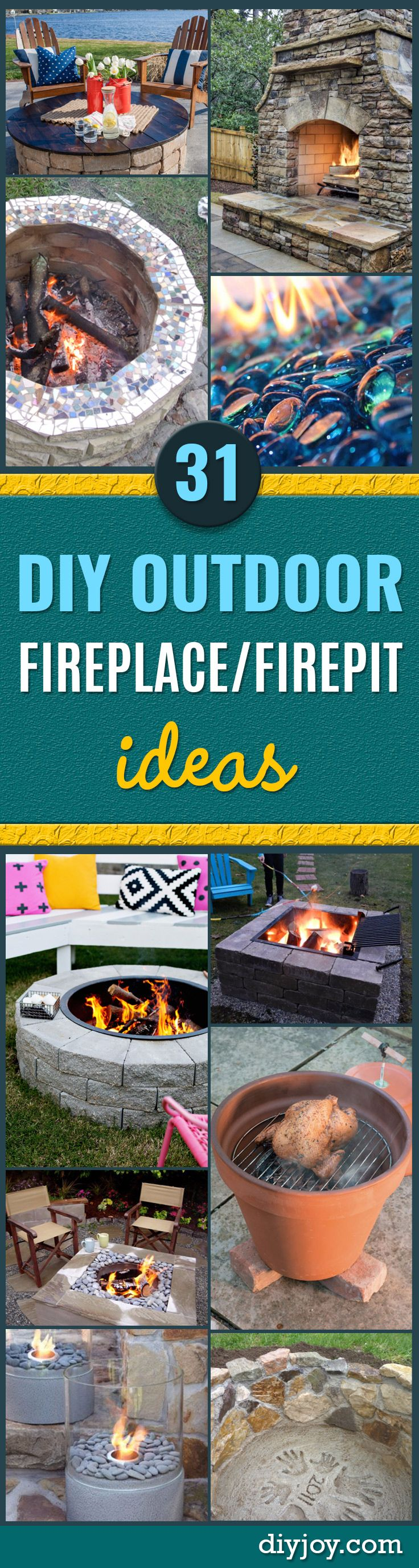 31 diy outdoor fireplace and firepit ideas solutioingenieria Images