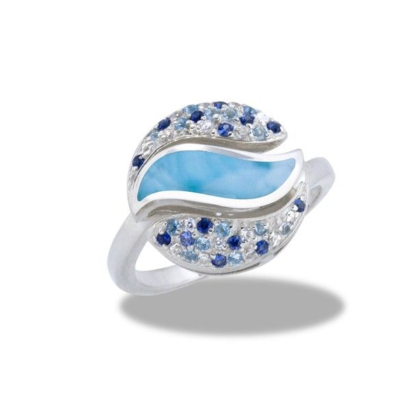 Diamonds International - Designers > Marahlago > MarahLago - Larimar & Blue Spinel Capri Ring