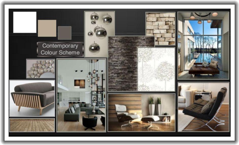 Contemporary presentation board plansze prezentacyjne for Interior design presentation