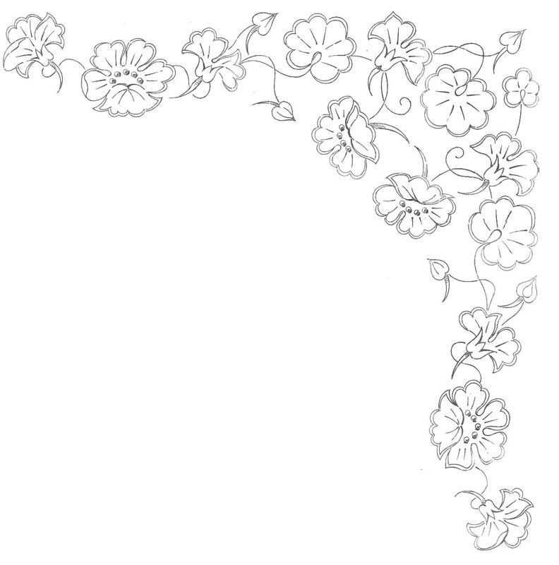Suite fleurs broderie d antan flower embroidery and
