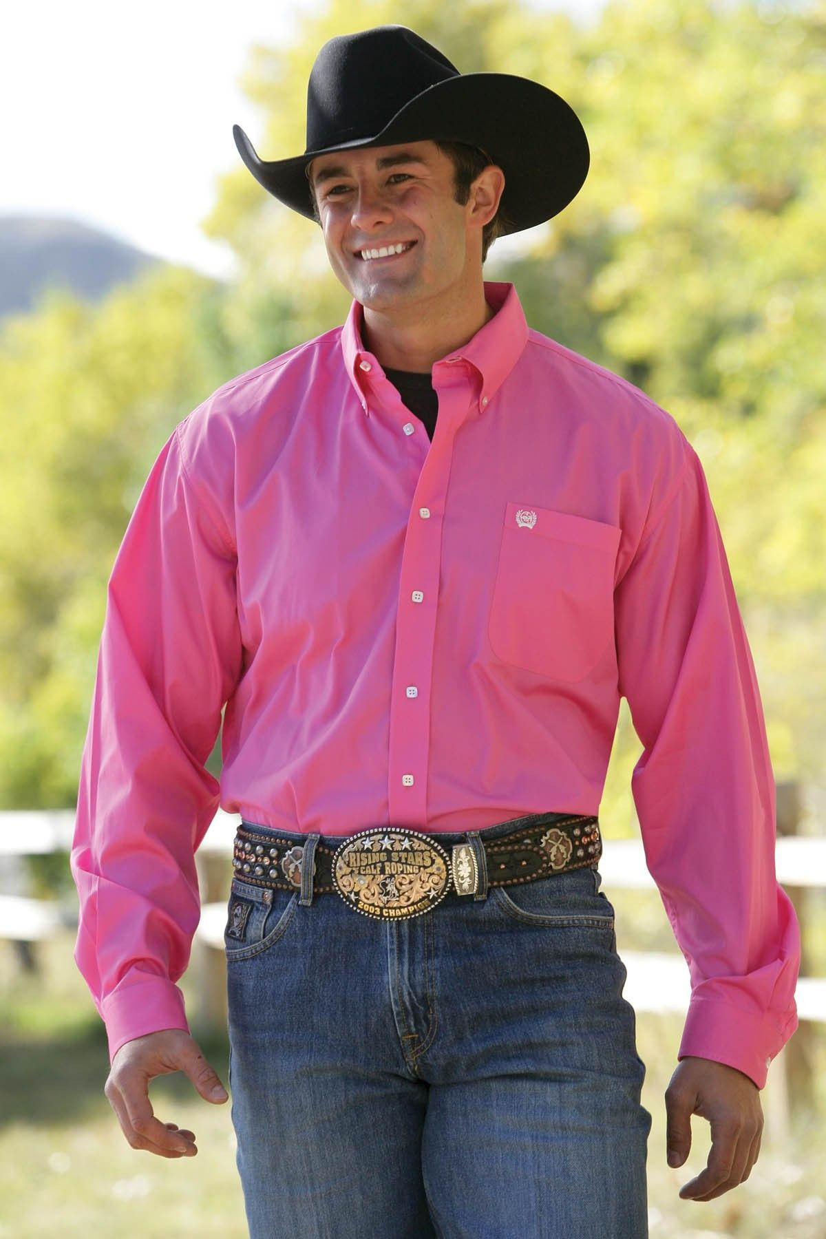 46be0415ebc Cinch Mens Solid Pink Button Down Cowboys Men, Real Cowboys, Western Shirts,  Western