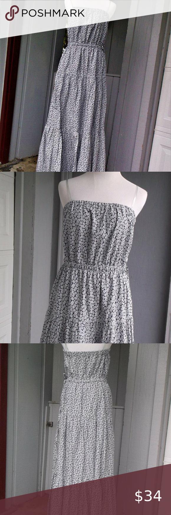 Gap 3 Tiered Ruffle Flower Ajust Strap Maxi Dress Ruffle Flower Gap Dress Maxi Dress [ 1740 x 580 Pixel ]