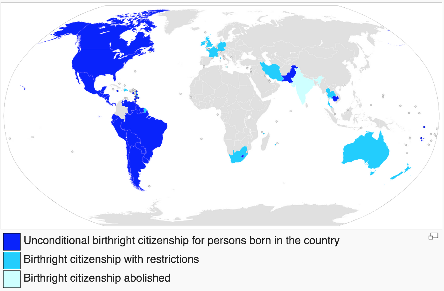 Countries That Practice Jus Soli Birthright Citizenship MAPS - World map practice