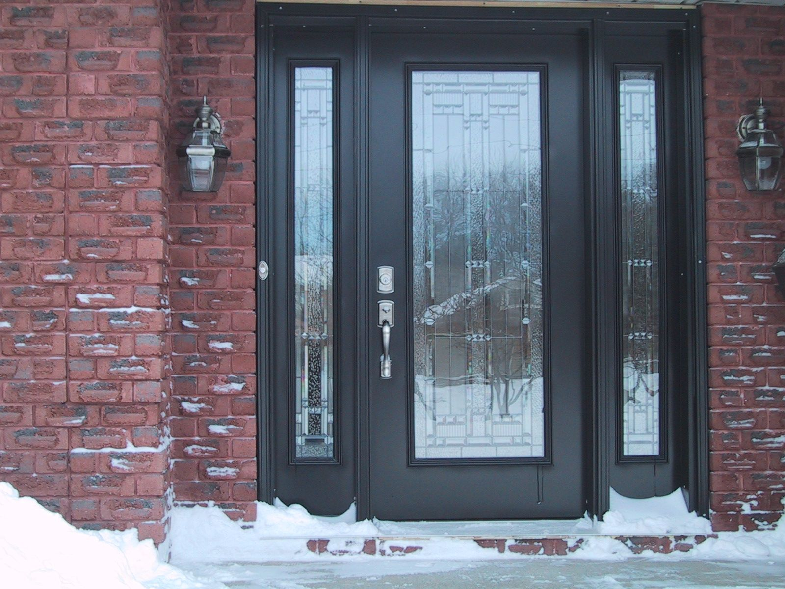 Front entry doors amp double doors in edmonton cambridge window - Confessions Of A Mormon Missionary Black Front Doors Front Bricks Exterior Front Doors Lymitrio Gallery