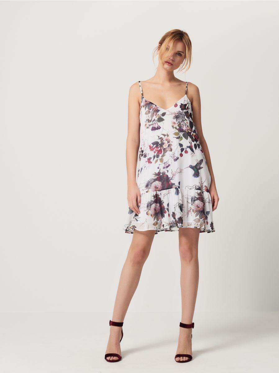 H&m pink pleated dress  Sukienka z falbaną MOHITO RWMLC  sukienki  Pinterest  Frill