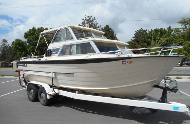 1975 22 starcraft chieftain for sale in 3733 s main st in for Aluminum boat with cabin for sale