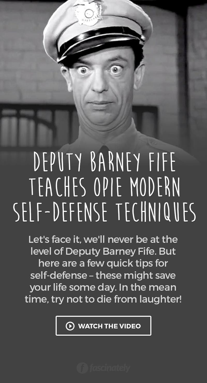 Barney Fife Quotes Deputy Barney Fife Teaches Opie Modern Selfdefense Techniques