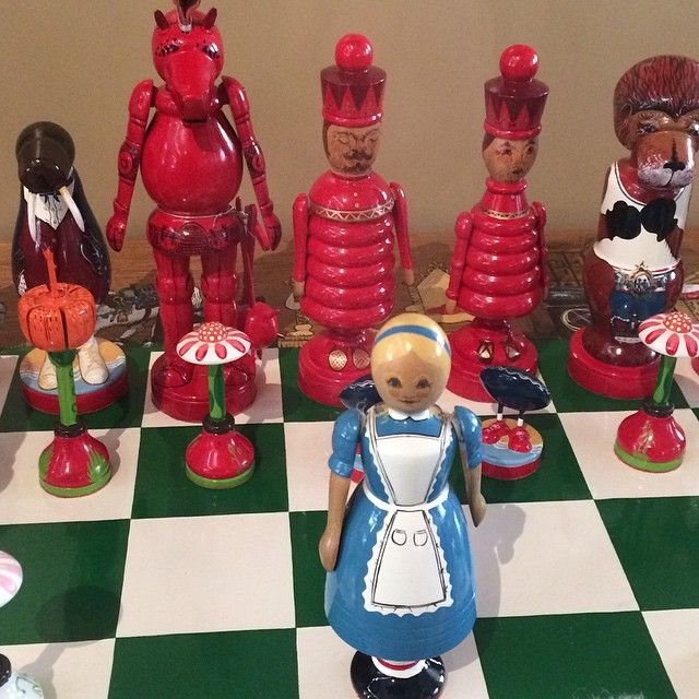 Alice in Wonderland chess set from The Museum of Childhood