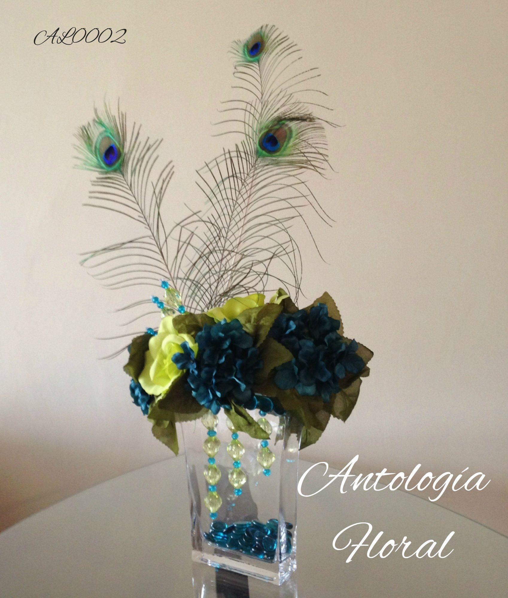 Arreglo de flores artificiales hortencias y rosas verdes - Arreglos de flores artificiales ...