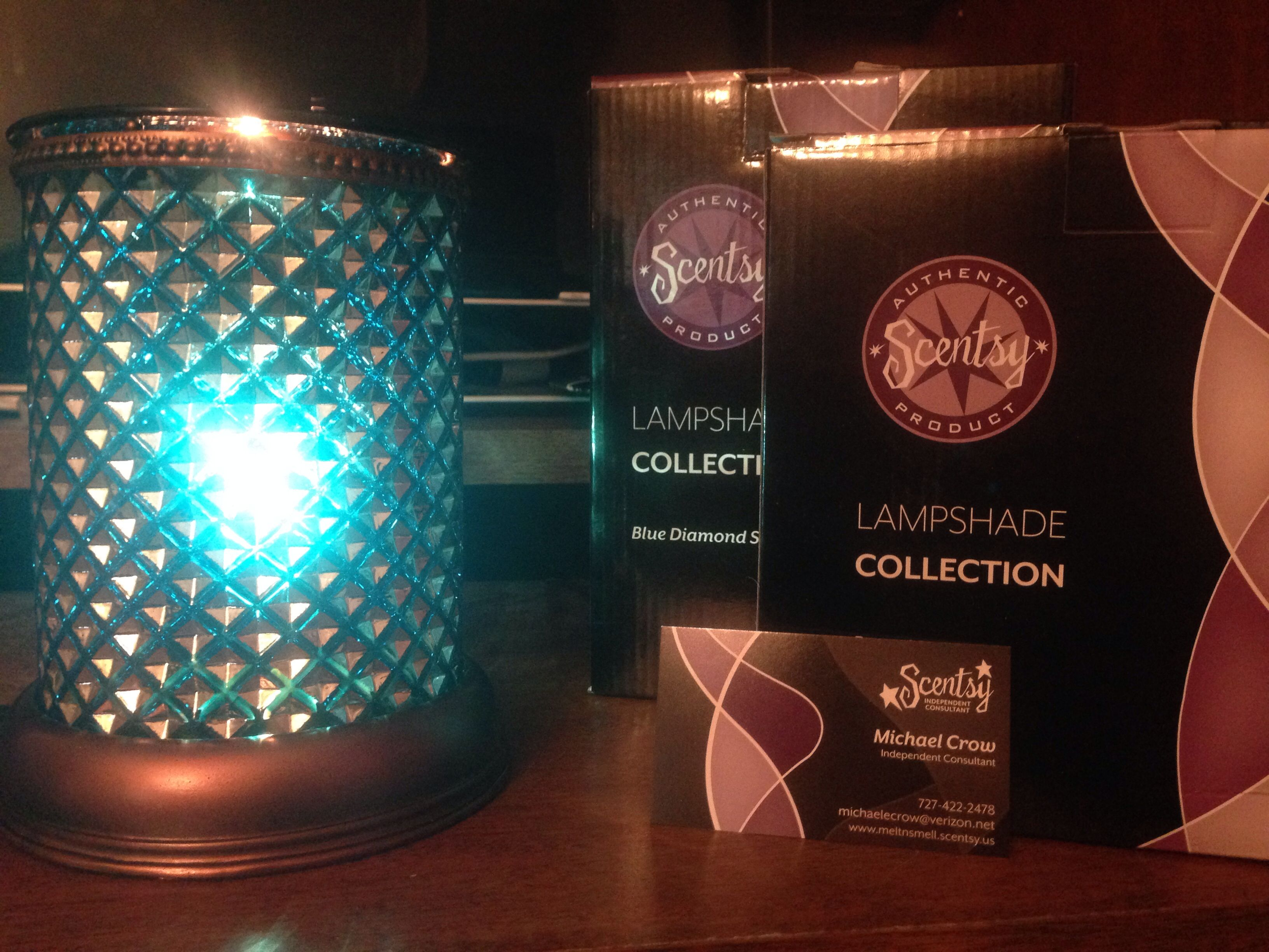 The Blue Diamond Lampshade Warmer