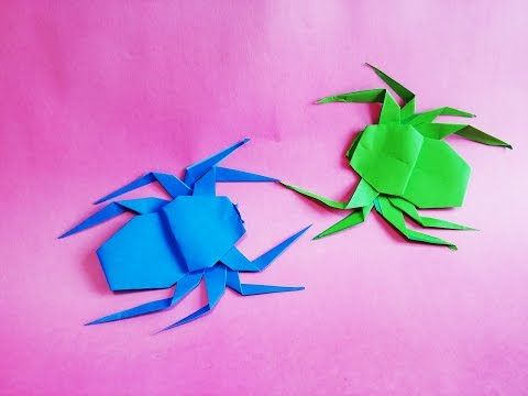 How To Make Paper Origami Spider Man Youtube