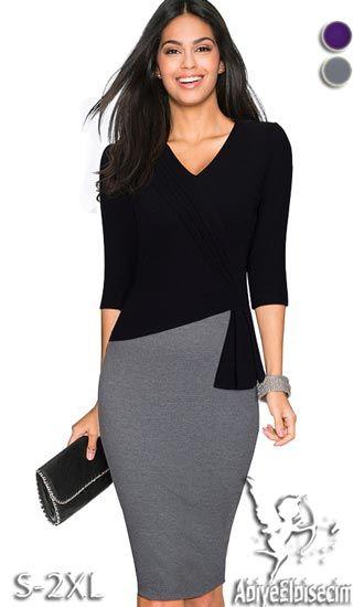 Bayan Elbise Modelleri Arasinda Musterilerimizin Cok Ilgi Gosterdigi Bir Urunudur Bayan Elbise D Fitted Pencil Dress Dresses For Work Long Sleeve Bodycon Dress