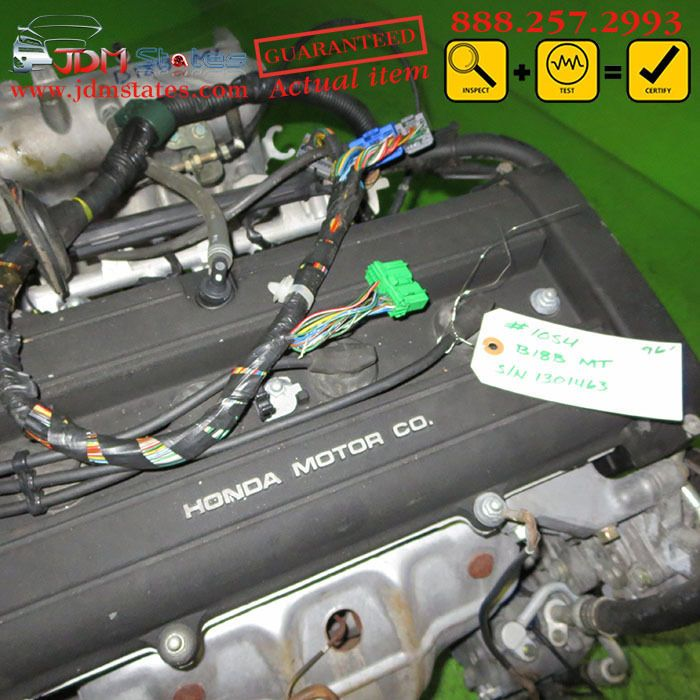 JDM ACURA INTEGRA B18B 1.8L OBD2 ENGINE & MANUAL