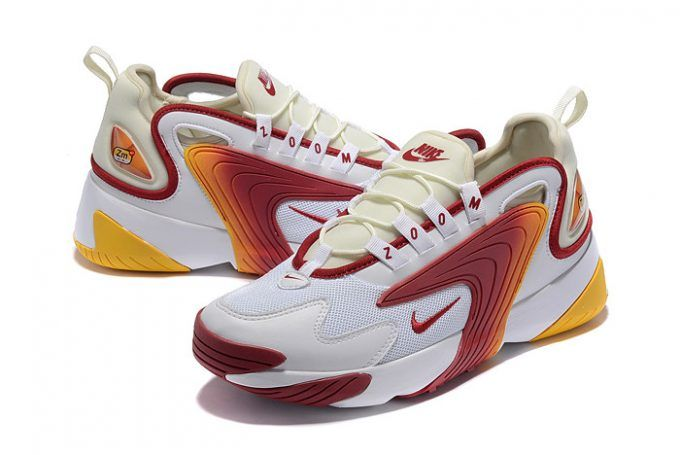 Buy Mens Nike Zoom 2K White Red Yellow Shoes 4