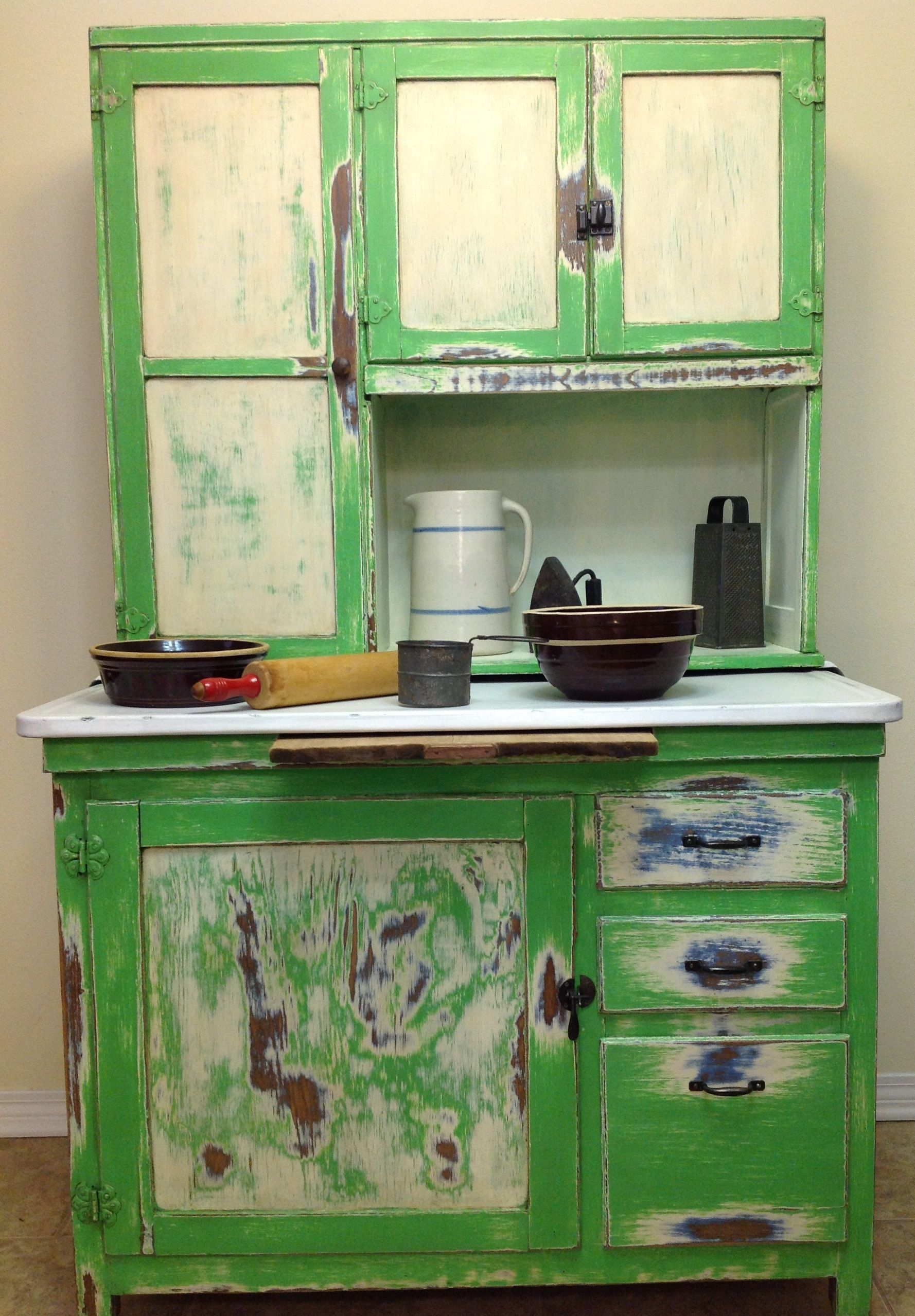 Hoosier cabinet painted by Peggy Bolyer using Chalk Paint ...