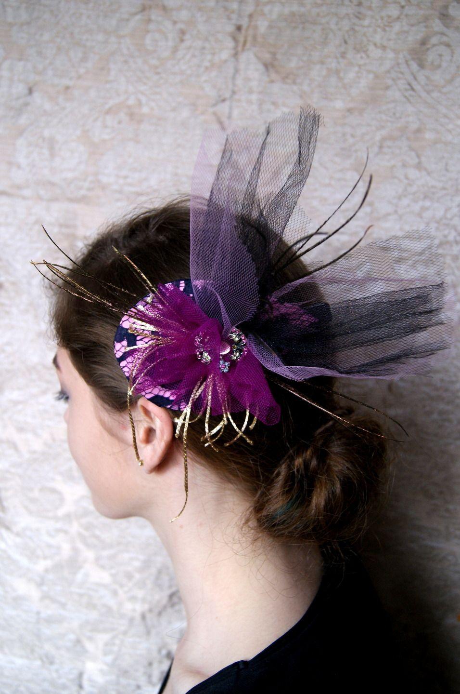 bibi petit chapeau rose et noir pour c r monie mariage cocktail accessoires coiffure par. Black Bedroom Furniture Sets. Home Design Ideas