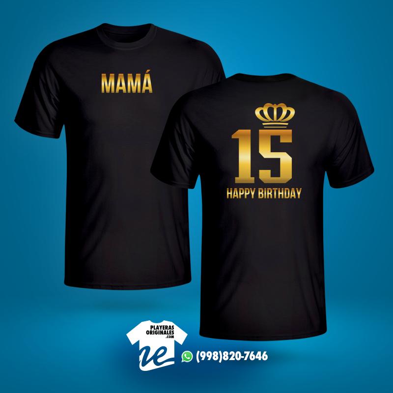 """La playera """"XV años"""" es ideal para regalar a quienes cumplen años y desean 4560f5528527d"""