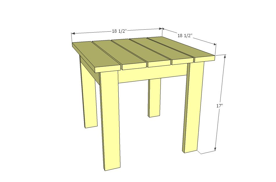 Ana White | Build a Home Depot Adirondack Side Table | Free and ...