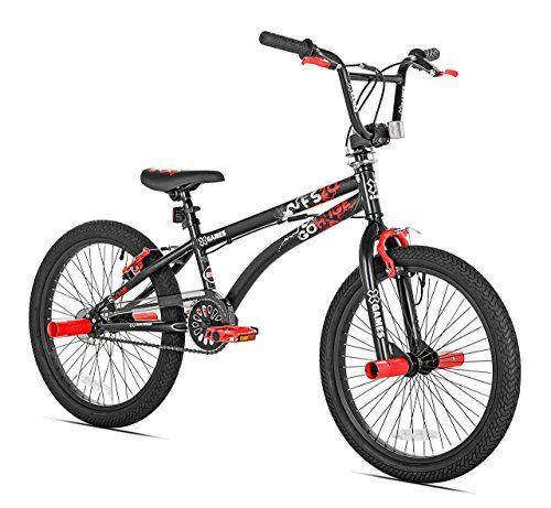 X Games Fs 20 Bmx Freestyle Bicycle 20 Inch Black Red Boy Bike
