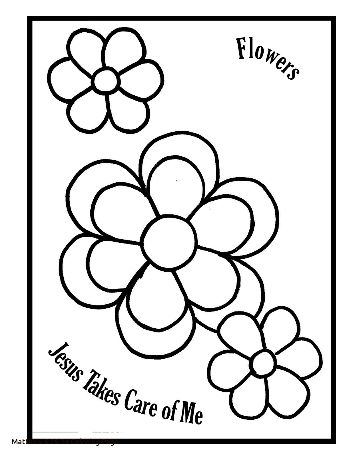 Matthew 6 25 34 Coloring Page For Glum Of