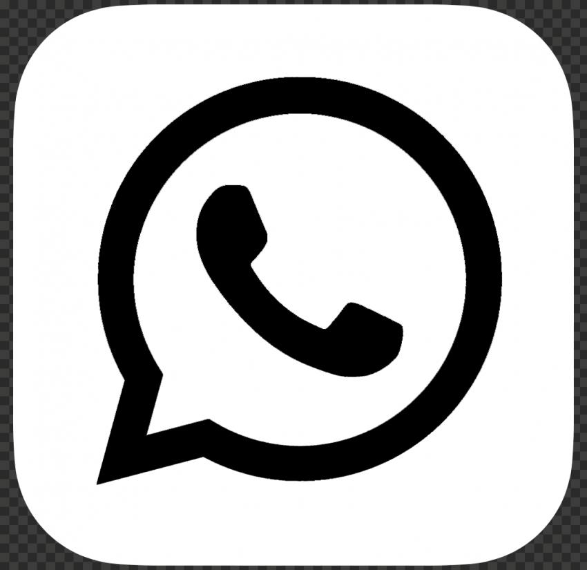 Hd White Black Whatsapp Wa Whats App Square Logo Icon Png Logo Icons Square Logo Icon