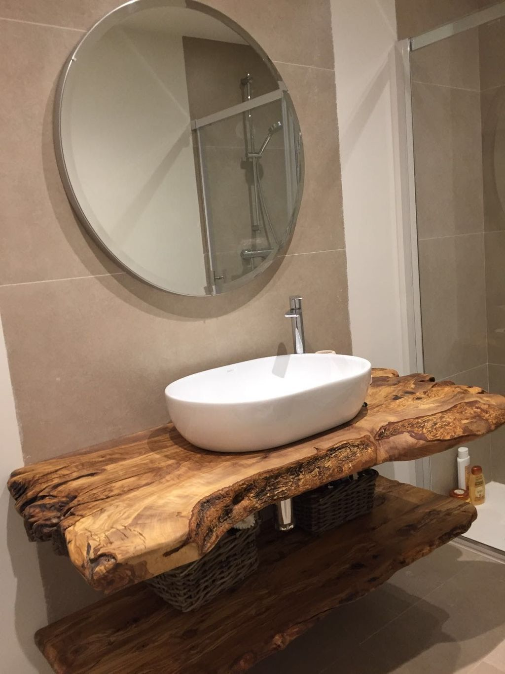 44 The Best Rustic Small Bathroom Ideas With Wooden Decor Bathroom Vanity Vanities Homedeco Cottage Bathroom Small Bathroom Remodel Designs Wooden Bathroom