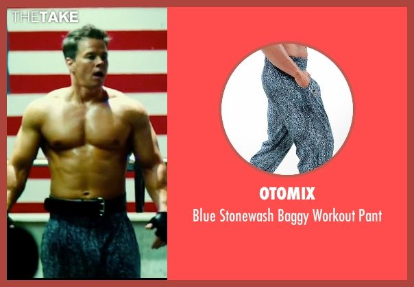 Otomix Blue Stonewash Baggy Workout Pant as seen on Daniel Lugo in Pain &  Gain  