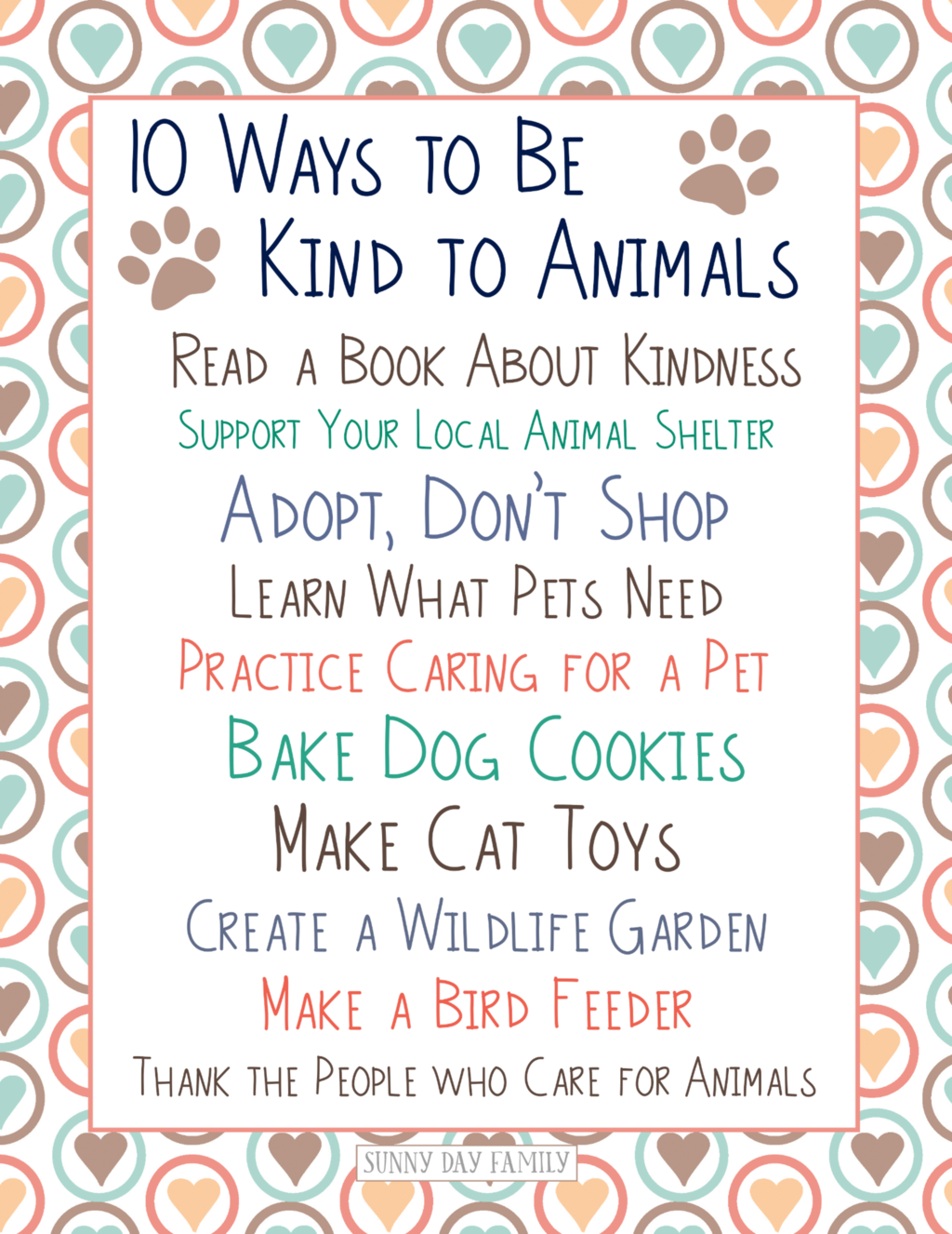 How To Be Kind To Animals 10 Ideas For Kids With Free