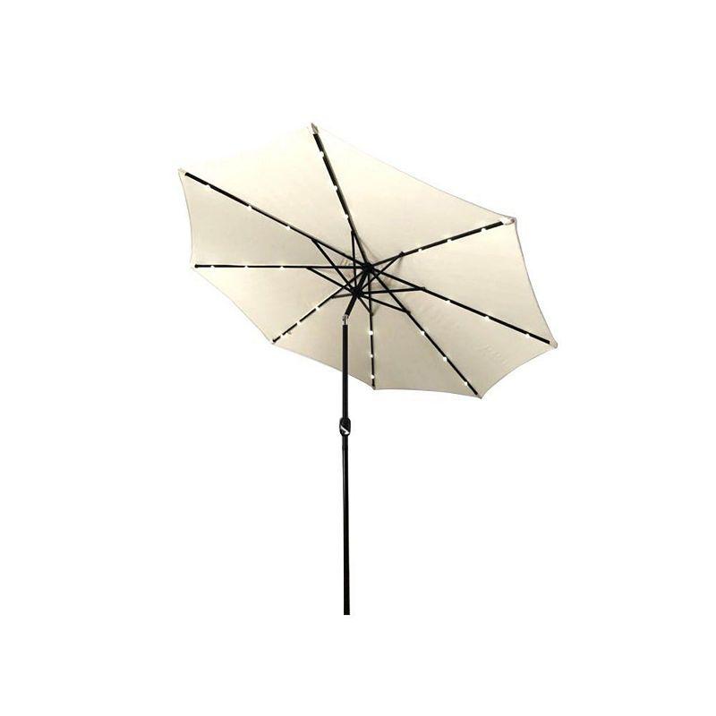 9c64351c3 ALEKO Solar Powered LED Lighted Tilting Outdoor Patio Table Umbrella ...