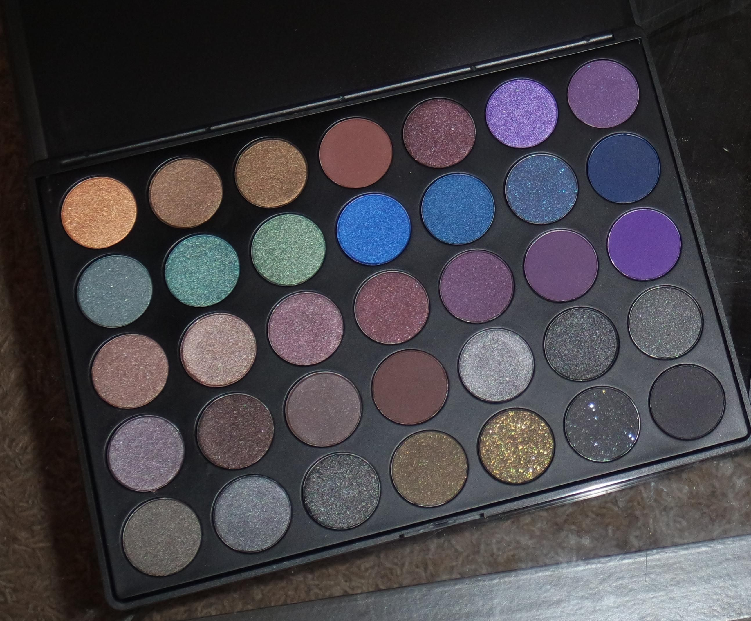 Morphe 35k eyeshadow palette review beauty in bold - Makeup By Myrna Beauty Blog Morphe Brushes 35d 35 Color Dark Smoky Palette
