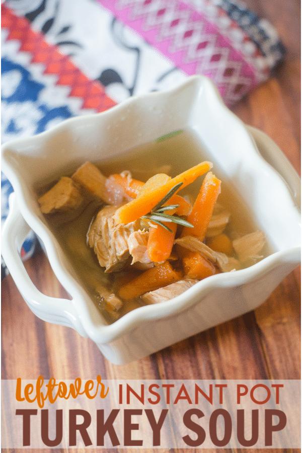 Leftover Instant Pot Turkey Soup