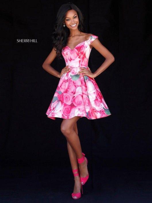Sherri Hill 51793 Short Floral Prom Dress | Pinterest