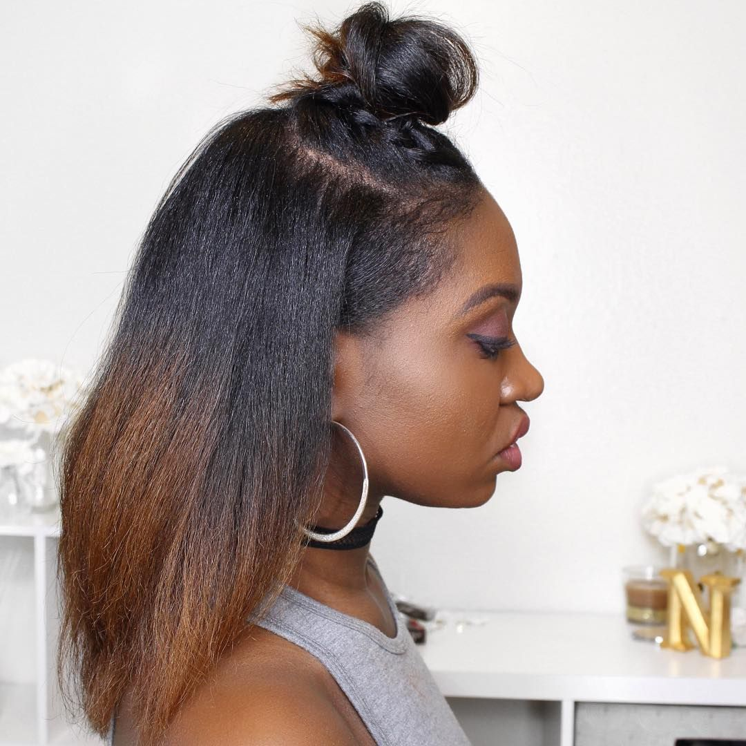 Hairstyles For African American Natural Hair Inspiration Natural Hair Hairstyles Buns Half Up Hairstyles African American