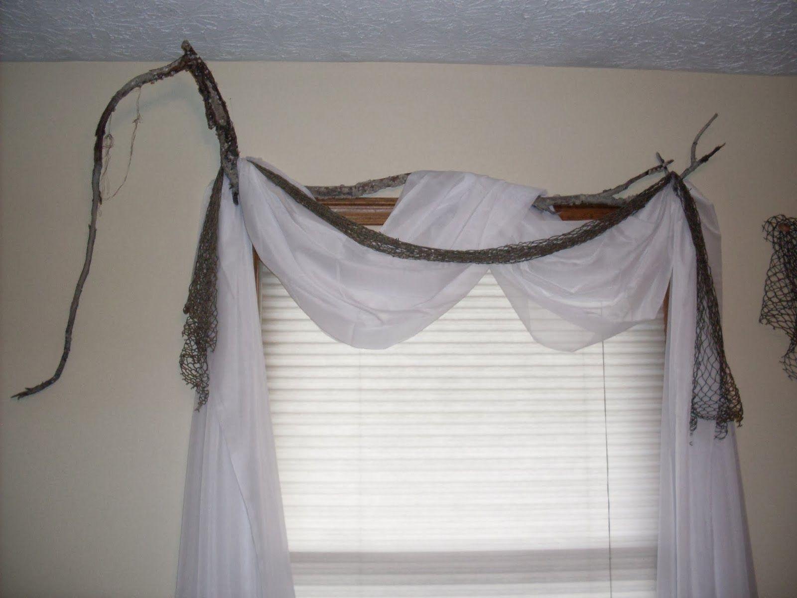 Driftwood As A Curtain Rod Curtains Curtain Rods Window Treatments
