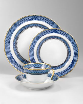 Indigo Wave Dinnerware by Mottahedeh at Neiman Marcus.