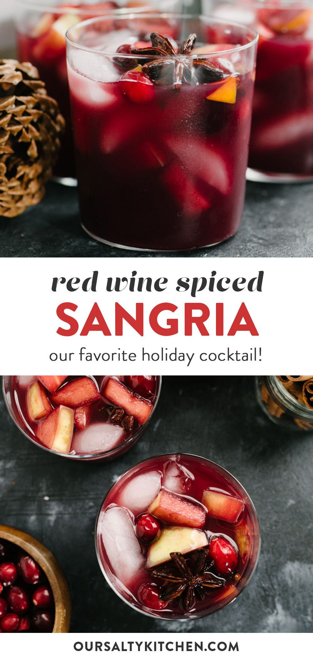 Spiced Red Wine Holiday Sangria Recipe In 2020 Holiday Sangria Holiday Sangria Recipes Christmas Cocktails Recipes