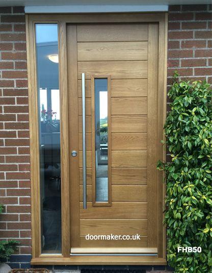 Contemporary Oak Door With Sidelight Portale Contemporary Door Oak Portale Sidelight Modern Front Door Contemporary Front Doors Entrance Door Design