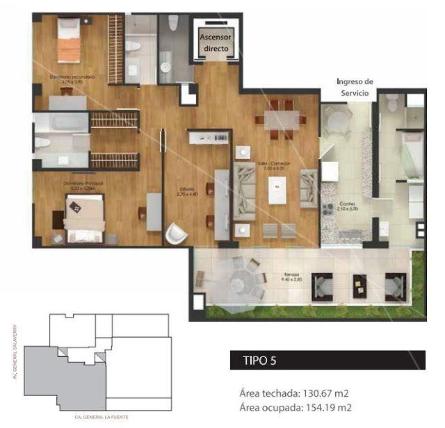 Planos departamentos en 155m2 hermosas casas planos de for Departamentos en planos