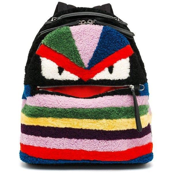 969cce141bda Fendi Multicolor Shearling Monster Backpack ( 4